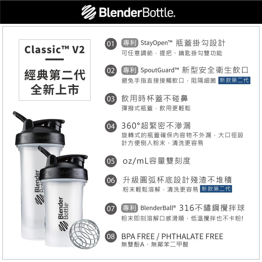 【Blender Bottle】Classic V2系列-經典防漏搖搖杯28oz 5