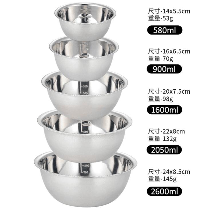 【Outkeeper】戶外野餐燒烤不鏽鋼碗5件套碗 2