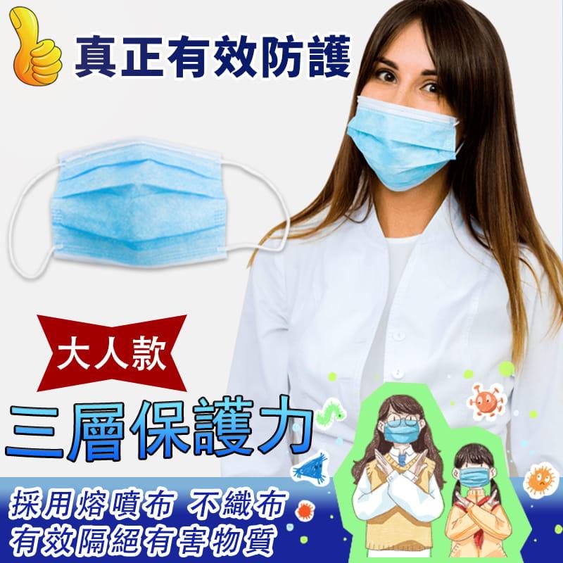 【現貨】美國FDA歐盟CE雙認證三層熔噴布口罩(非醫療) 50入/包 0