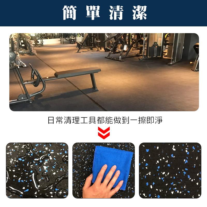 台灣製DIY健身房巧拼橡膠地墊 (SGS檢驗合格) 9