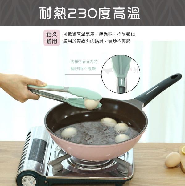 【悠遊戶外】耐熱矽膠不鏽鋼食物夾 3