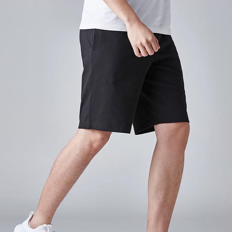 棉質休閒運動短褲 薄款透氣 抽繩男女款 舒適健身褲 2