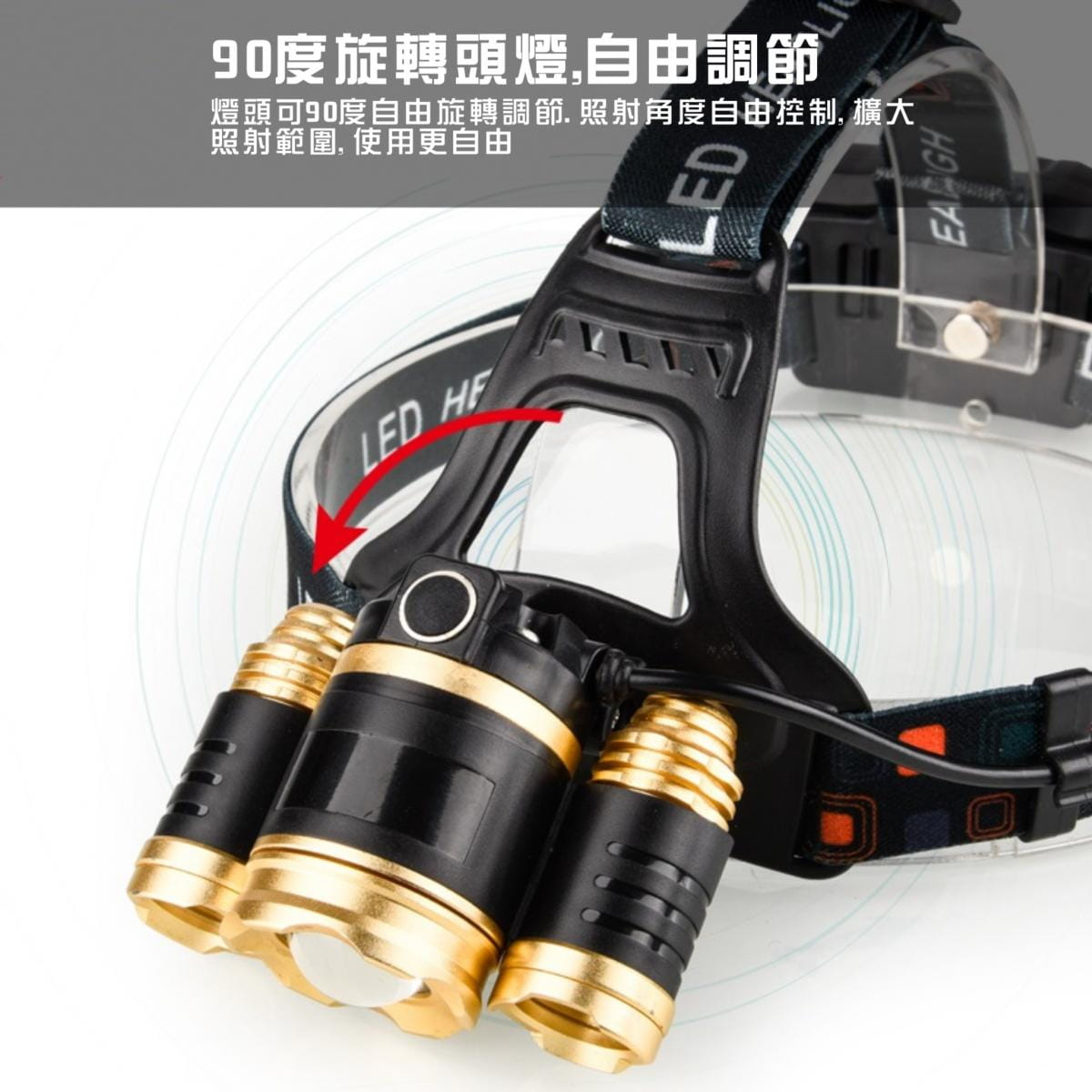 美國超亮CREE燈珠 LED戶外頭燈組 4
