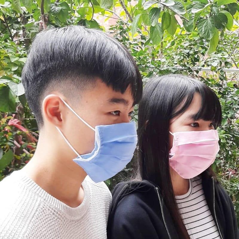 MIT素色棉布三折款口罩保護套 透氣薄款 (顏色隨機)【AG06008】 6