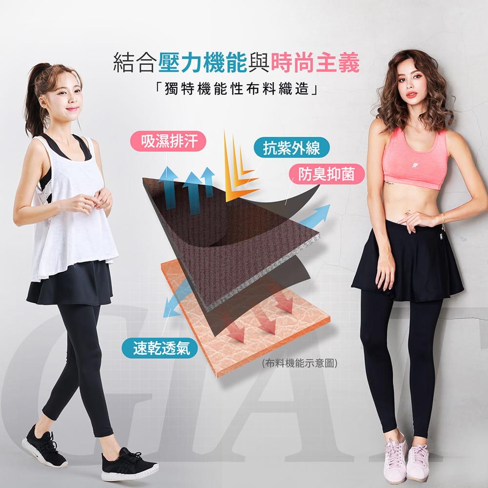 【GIAT】台灣製激能3.0排汗防曬壓力裙褲 2