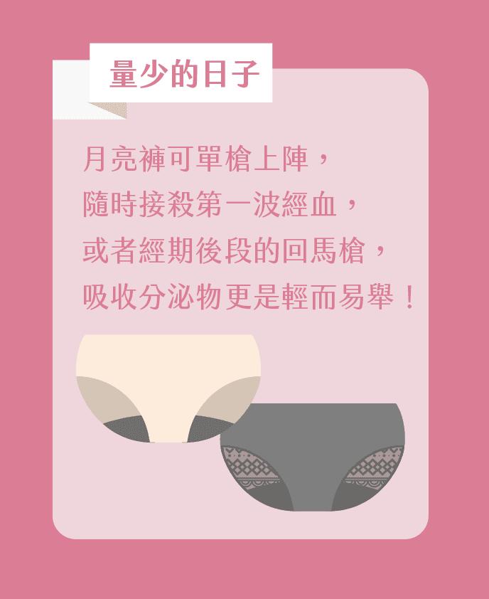無痕月亮褲☽日用蕾絲款-平日取代護墊 / 經期取代棉棉 2