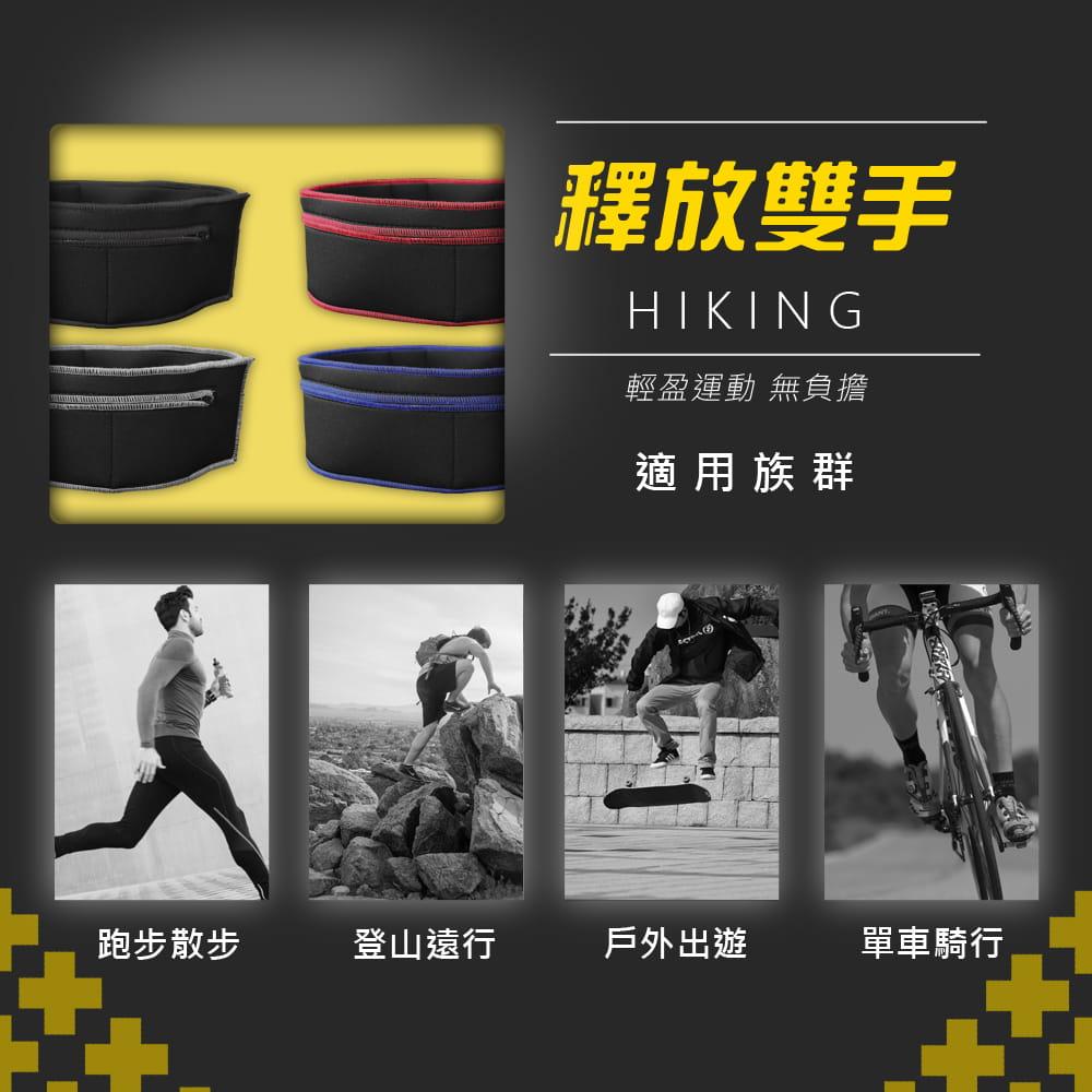 大容量收納登山貼身運動腰帶 |鈦石黑 10
