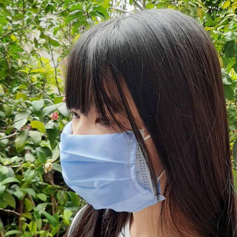 MIT素色棉布三折款口罩保護套 透氣薄款 (顏色隨機)【AG06008】 7