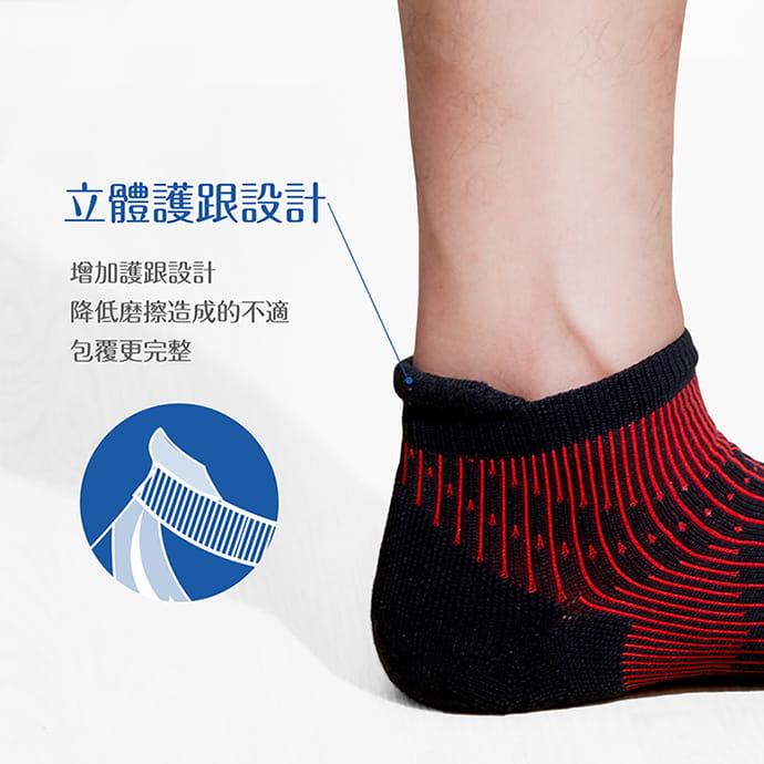【GIAT】台灣製專利護跟類繃壓力消臭運動襪 5