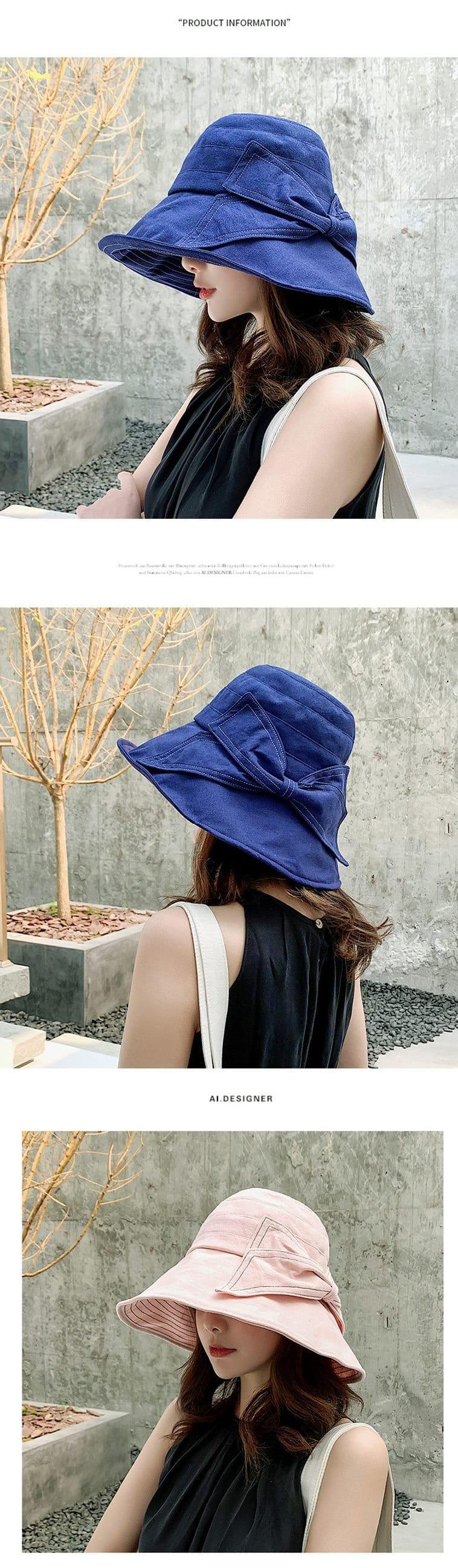 防曬護臉透氣折疊遮陽帽 4
