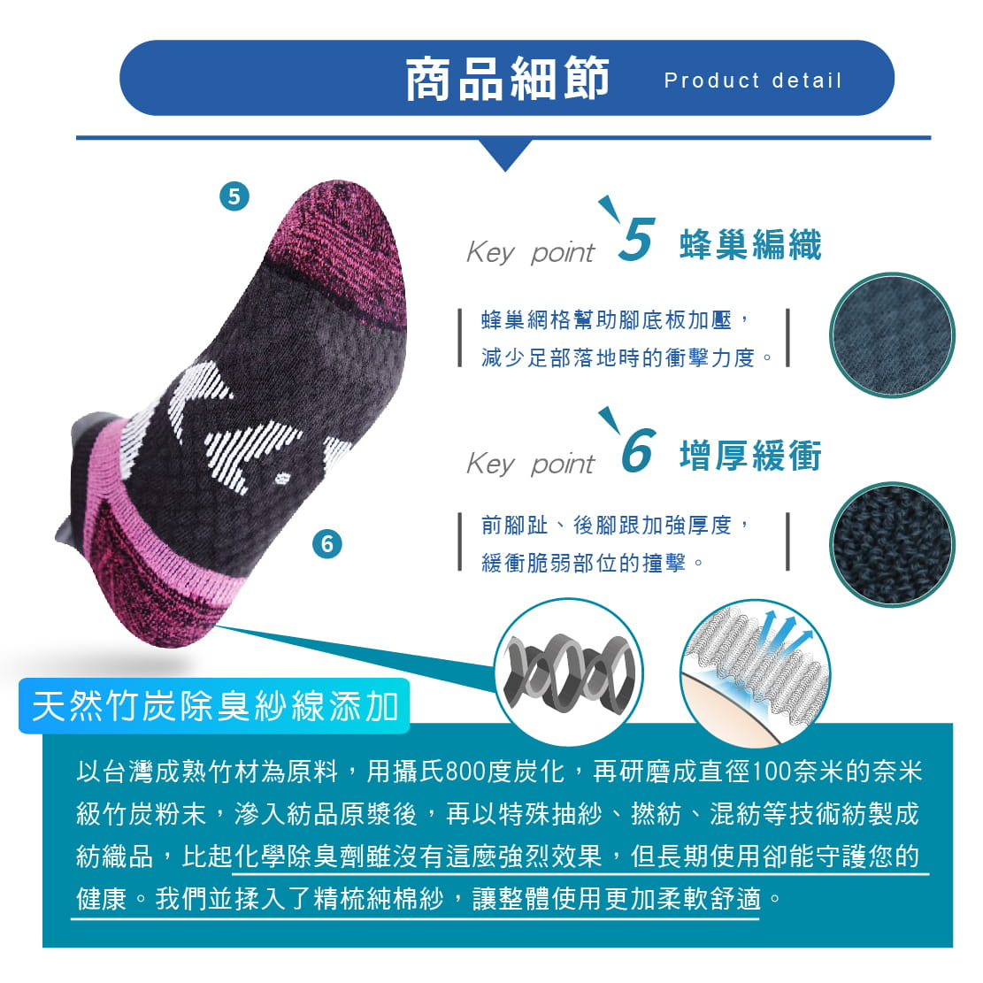 【FAV】足弓X型防護兒童運動襪(無止滑) 4