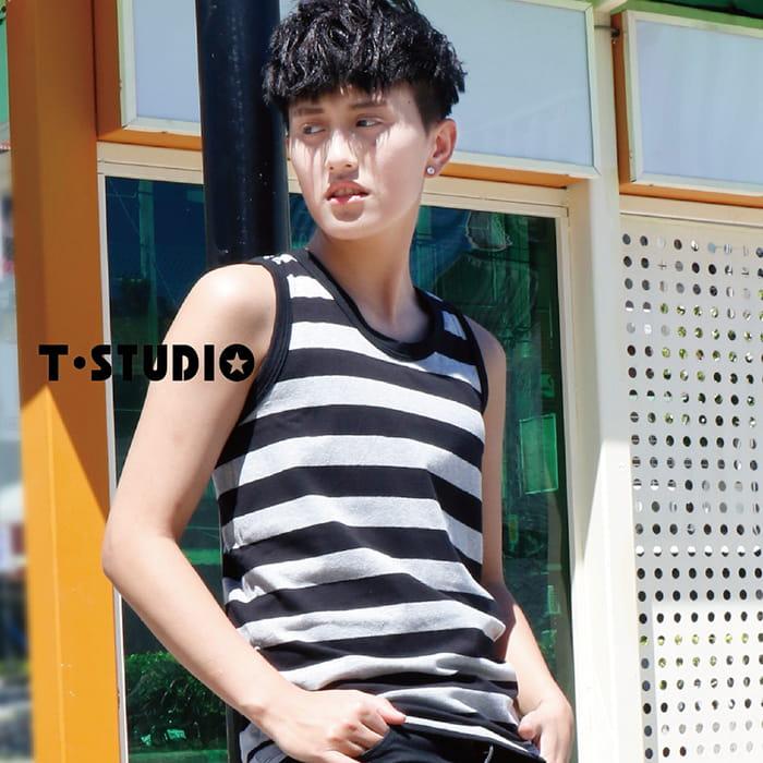 【T-STUDIO】純棉滾邊吊嘎束胸-滾邊白 8