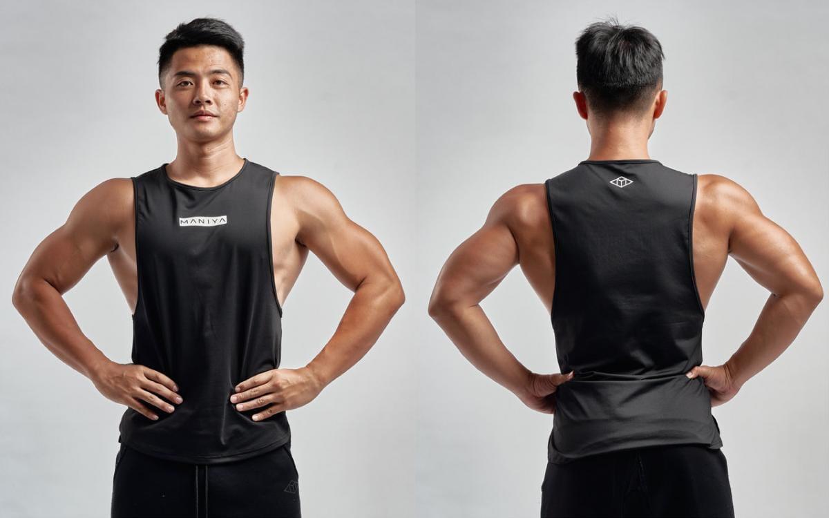 MANIYA健身背心[男]-/白/黑/軍綠 1
