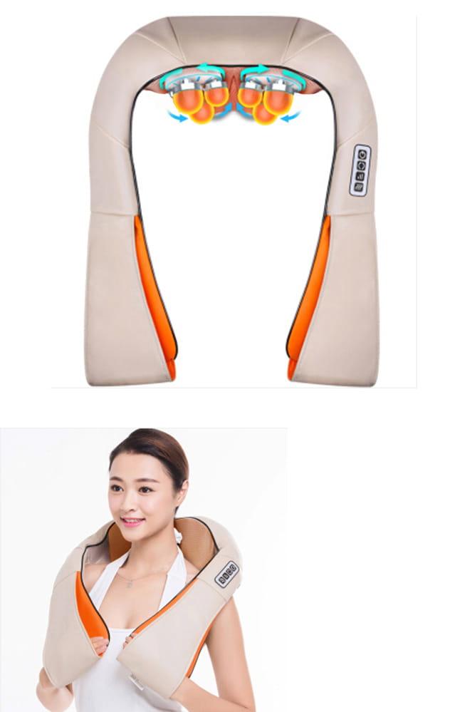 【健身大師】-愛健康6D肩頸揉捏按摩器 10