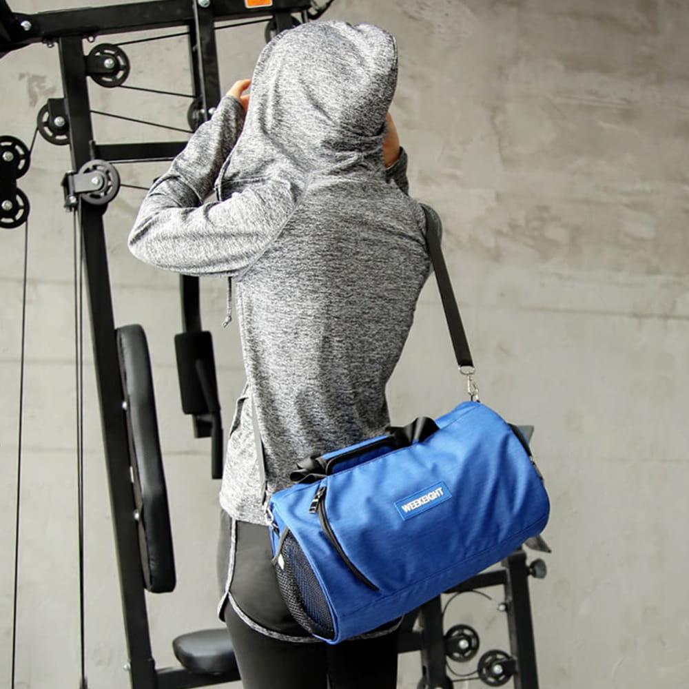 【E.City】大容量圓筒乾溼分離運動健身包 9