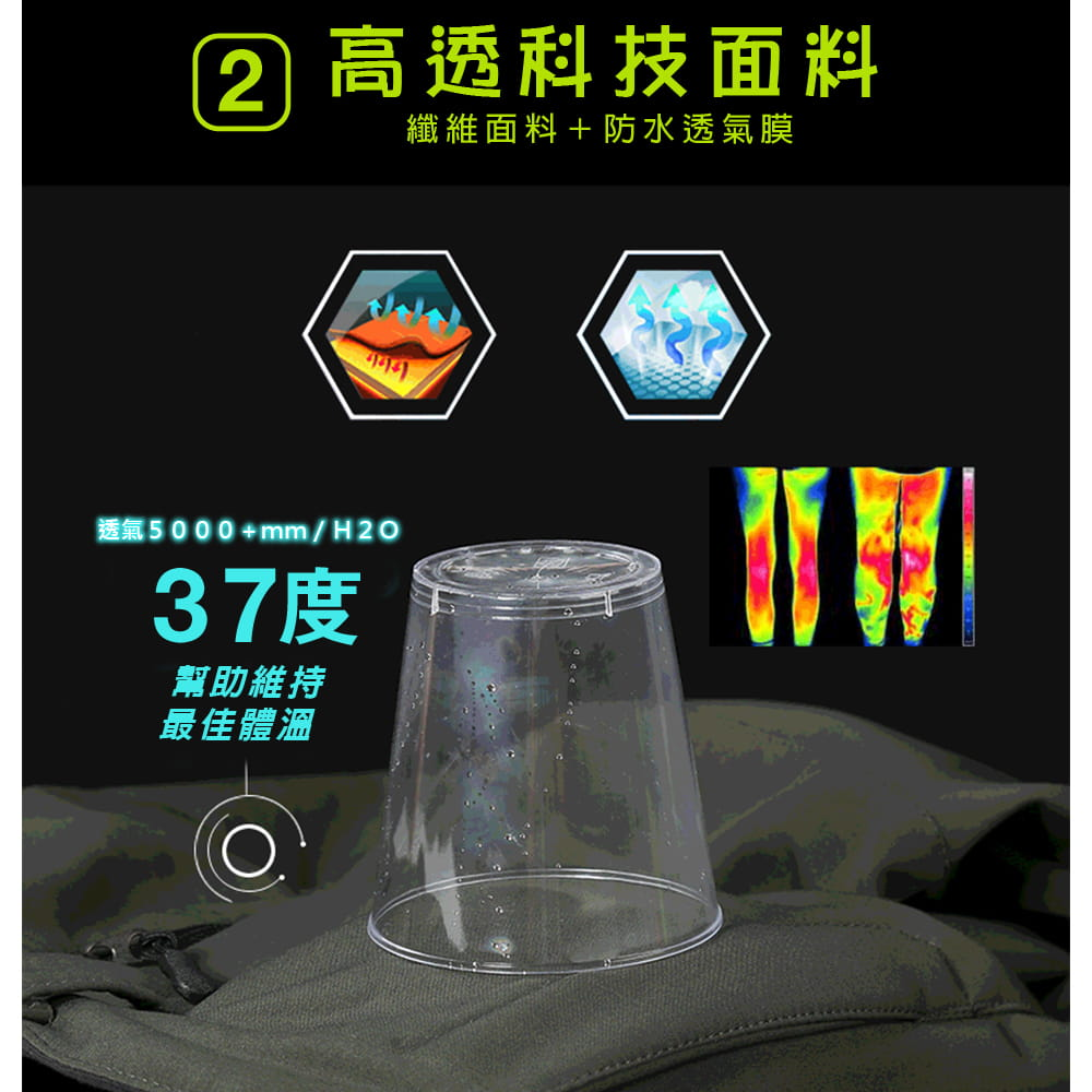 【NEW FORCE】戶外機能保暖衝鋒褲-男女款 3
