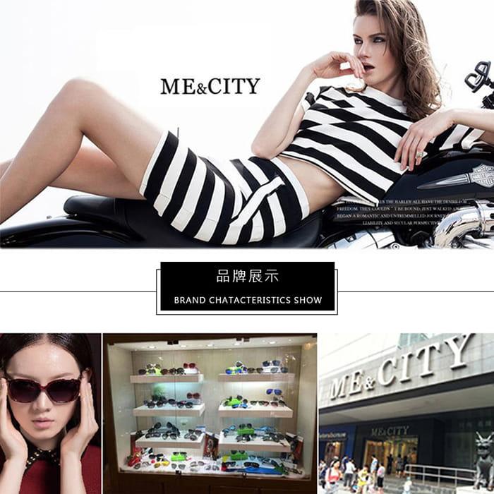 【ME&CITY】 甜美心型鎖鍊太陽眼鏡 抗UV (ME 1223 L01) 1