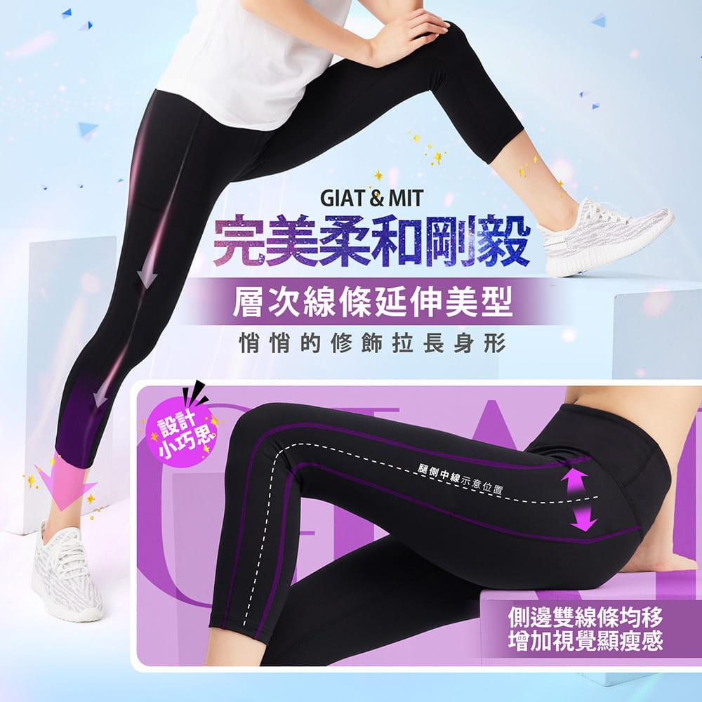 【GIAT】台灣製UV排汗機能壓力八分褲(馴魂褲) 5