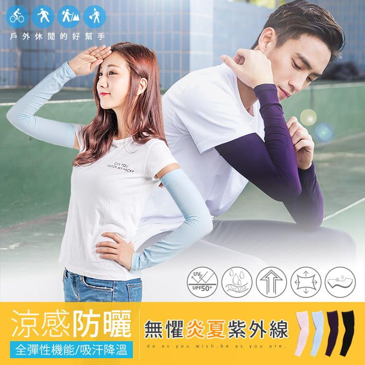 【BeautyFocus】超彈力運動防曬涼感袖套 2