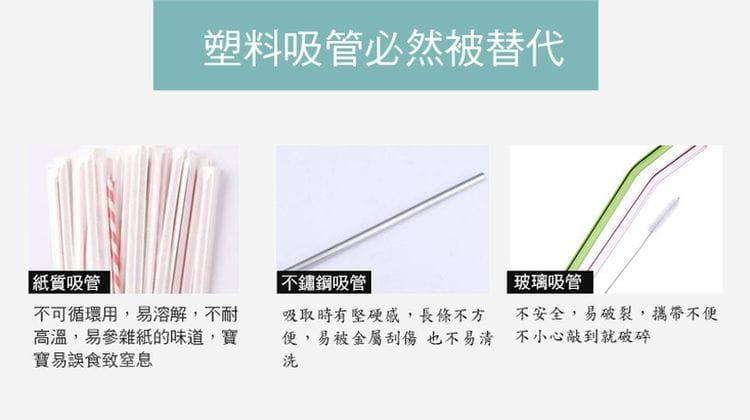 超方便矽膠摺疊吸管 2