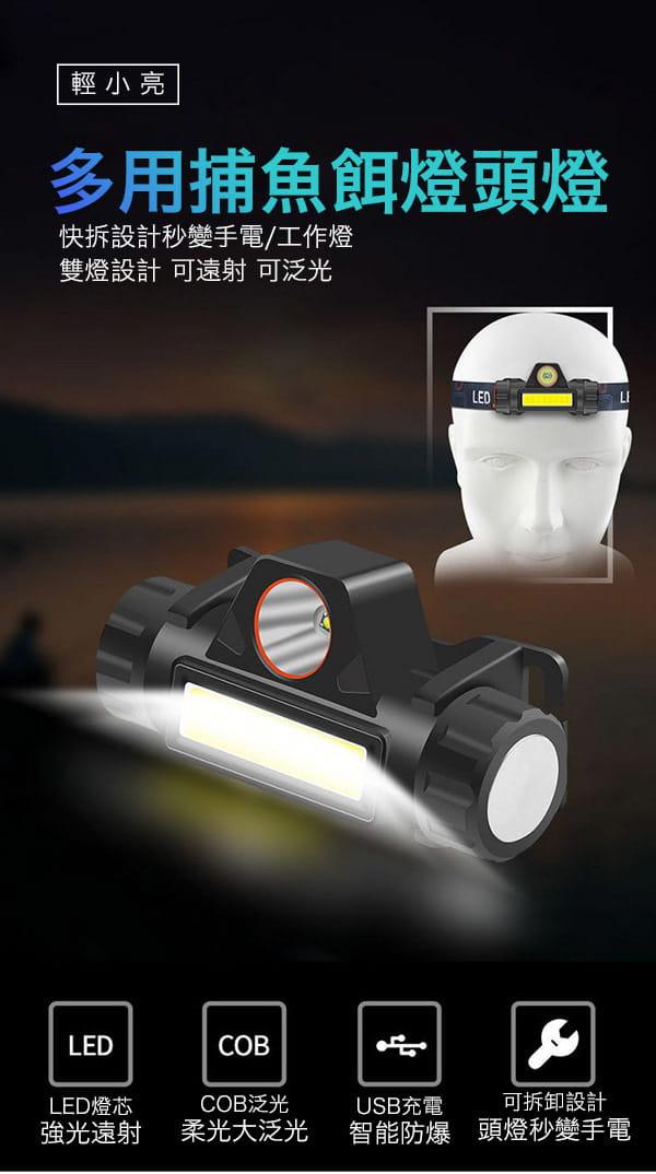 超強光爆亮磁吸兩用頭燈 6