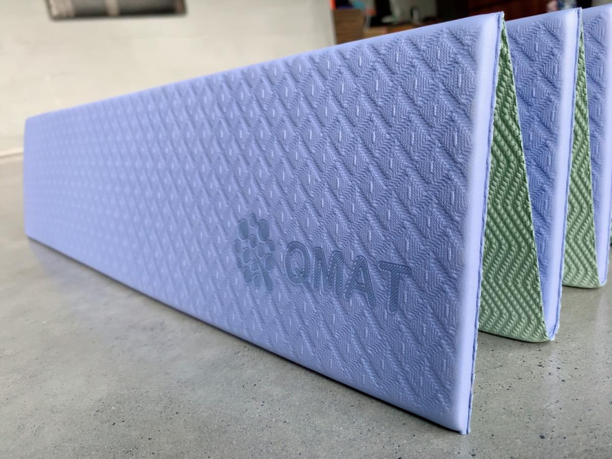 【QMAT】 12折疊瑜珈墊 一般雙色 5
