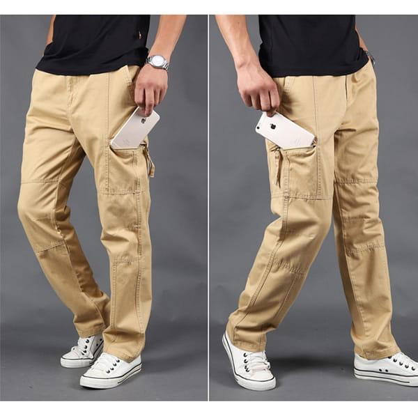 超彈力耐磨多口袋工作褲 13