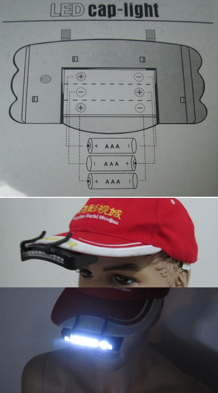11顆LED帽沿燈 6