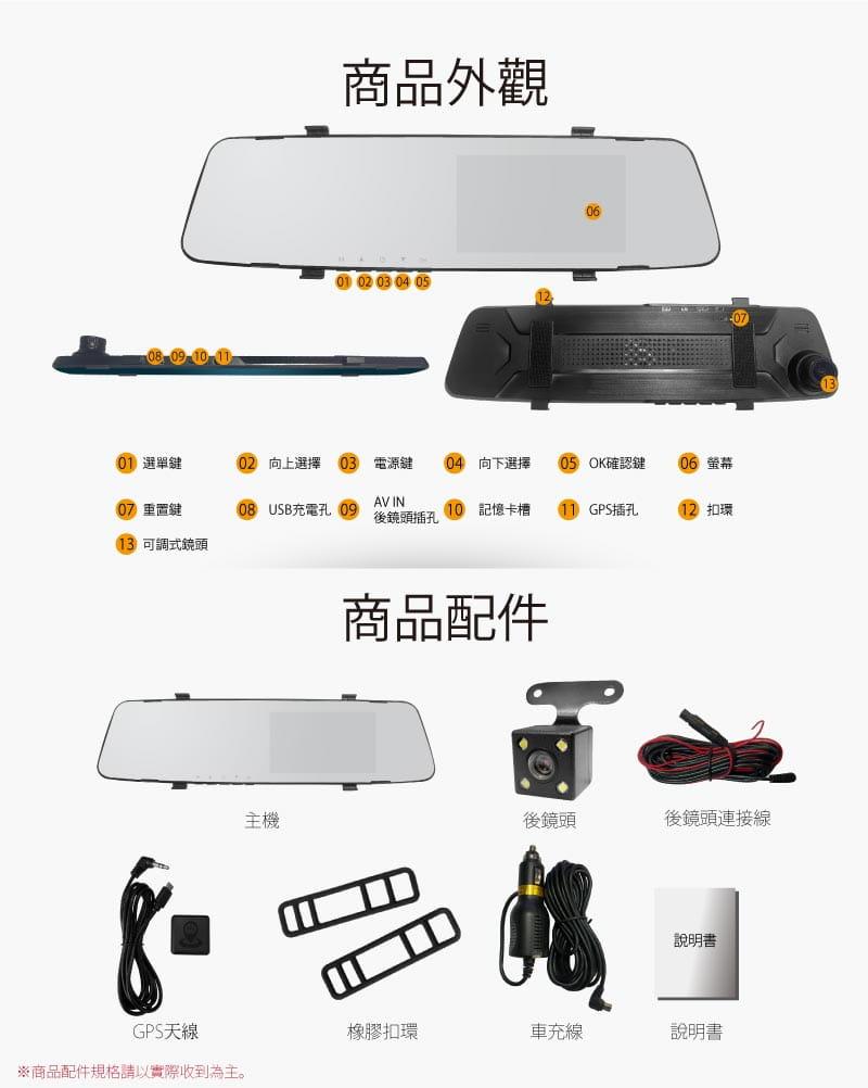 【全視線】W6 GPS測速前後雙鏡行車記錄器 5