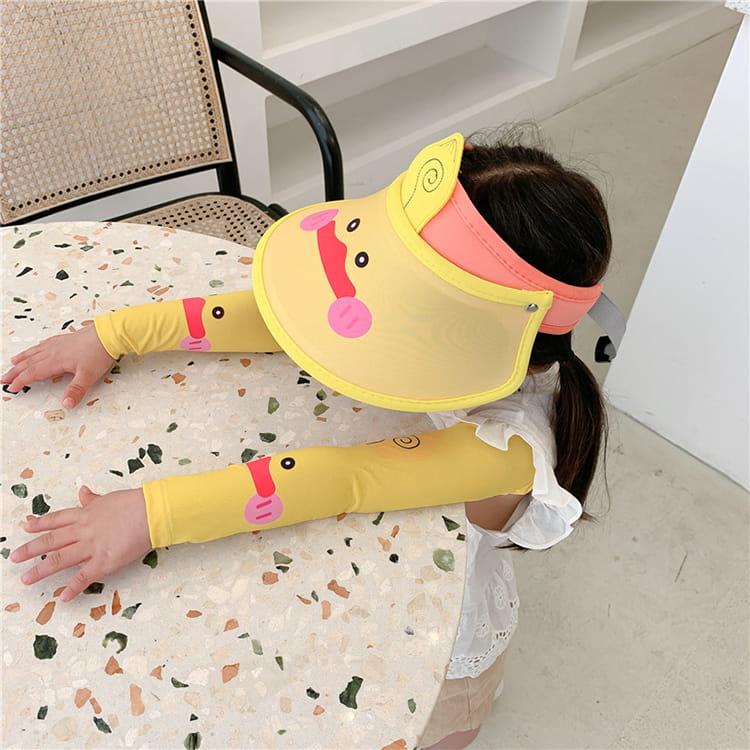 【JAR嚴選】兒童涼感防曬遮陽帽 (送袖套) 17