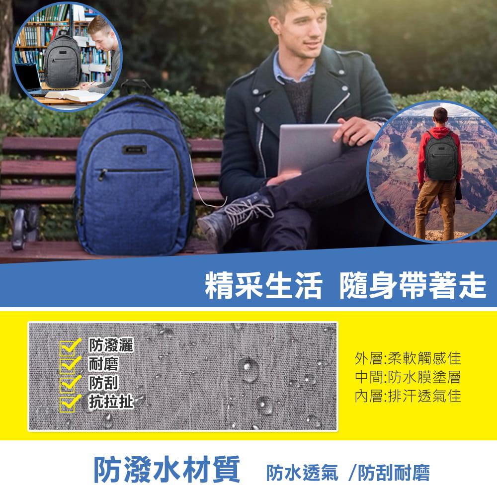 【AOTEKIN】防水透氣大容量多層電腦後背包 3