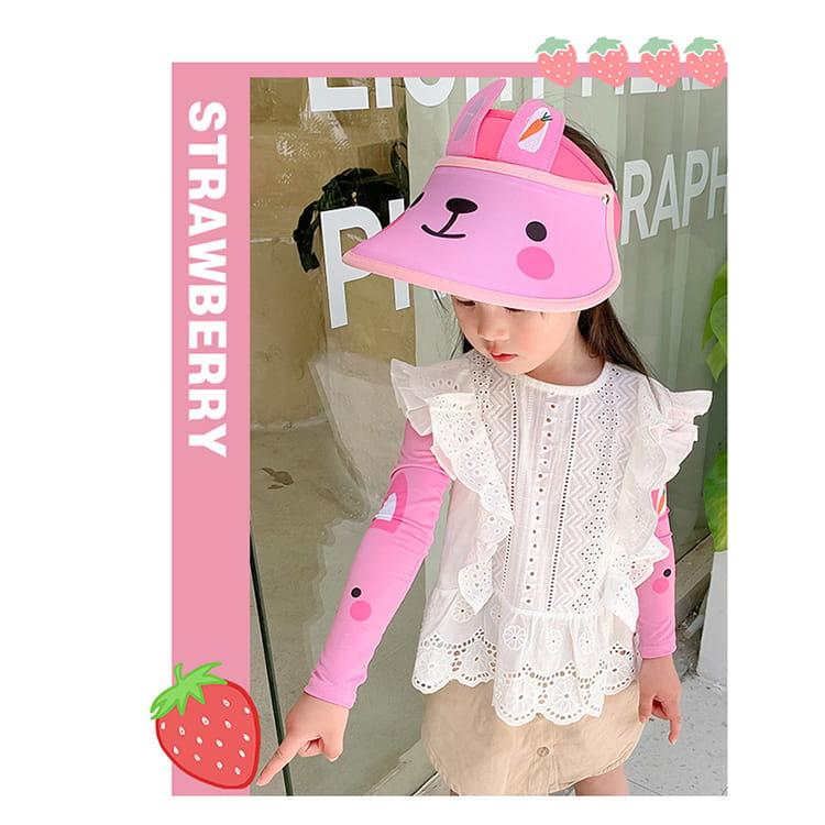 【JAR嚴選】兒童涼感防曬遮陽帽 (送袖套) 11
