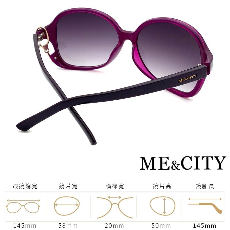 【ME&CITY】 甜美心型鎖鍊太陽眼鏡 抗UV (ME 1223 H02) 10