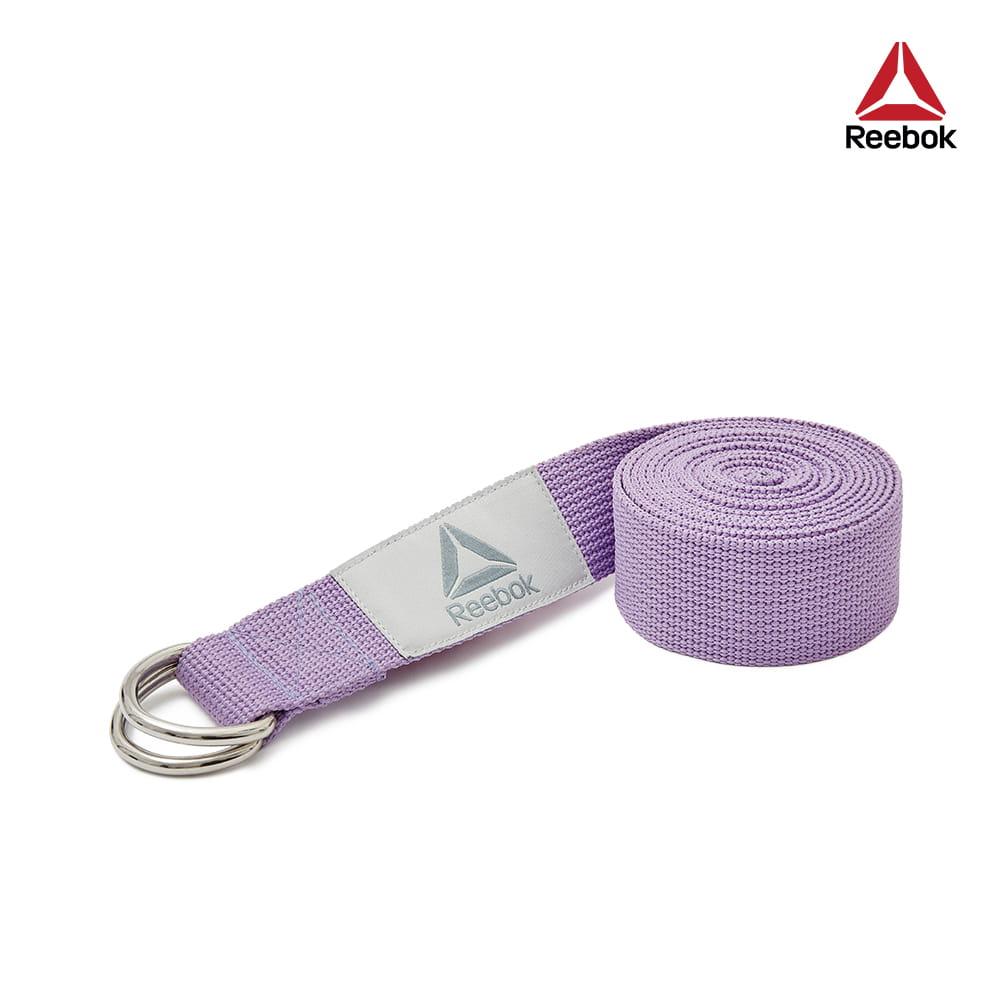 【Reebok】編織棉質瑜珈伸展帶-2.5m(羅蘭紫) 0