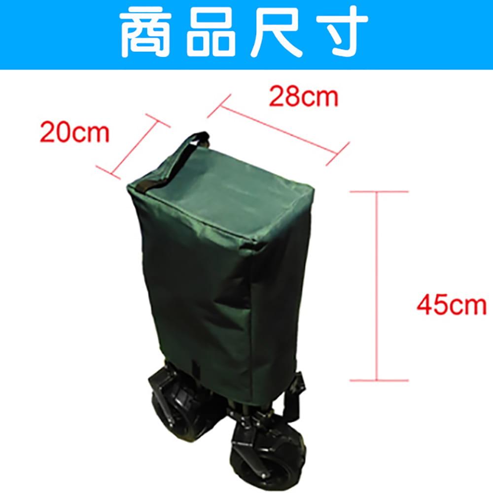 四折可收納美式折疊推車/手拉車/購物車 可承重100kg 可拆洗 (迷彩色) 5