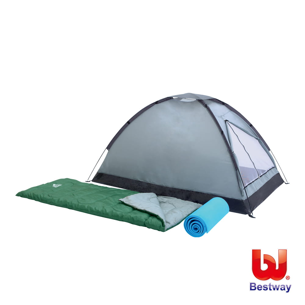 【Bestway】帳篷 睡袋 睡墊雙人露營套裝組 0