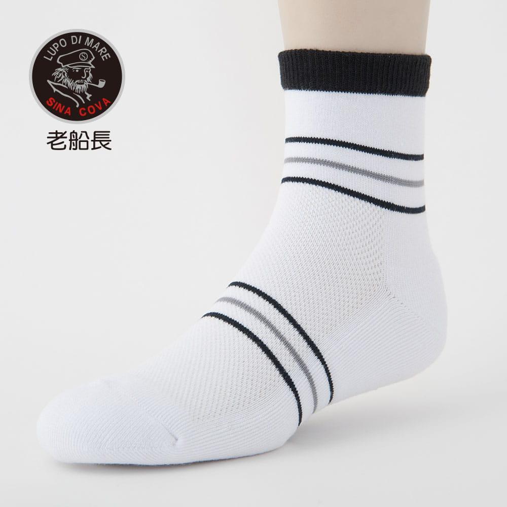 【老船長】(B3-144)三橫線毛巾氣墊加大運動襪 7