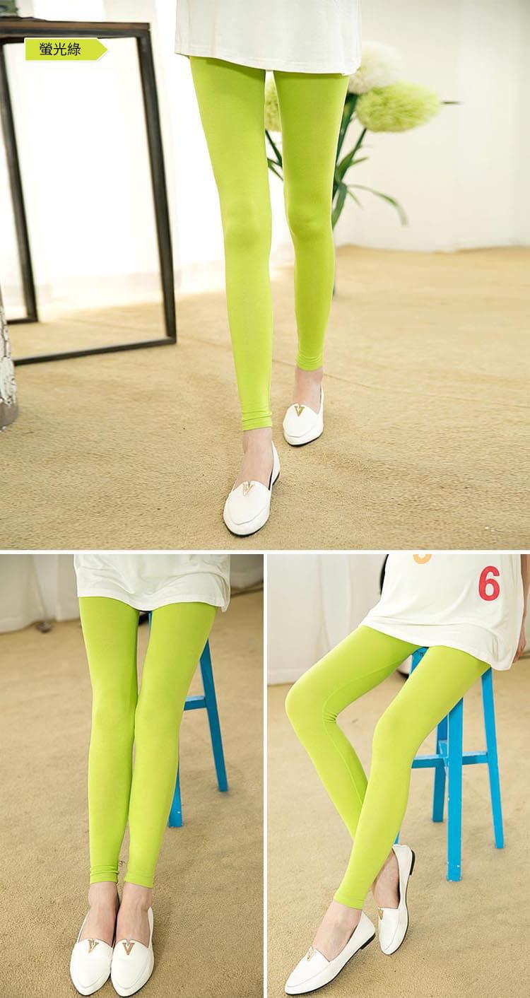 大尺碼全棉高彈力超顯瘦調節式舒適長褲/孕婦褲 14