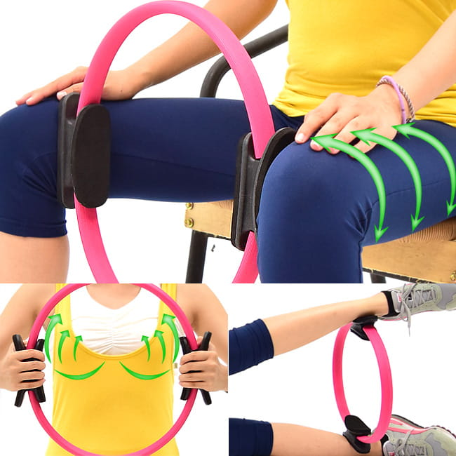 有氧美型彈力韻律圈    健身圈美腿夾瑜珈圈美體圈 0