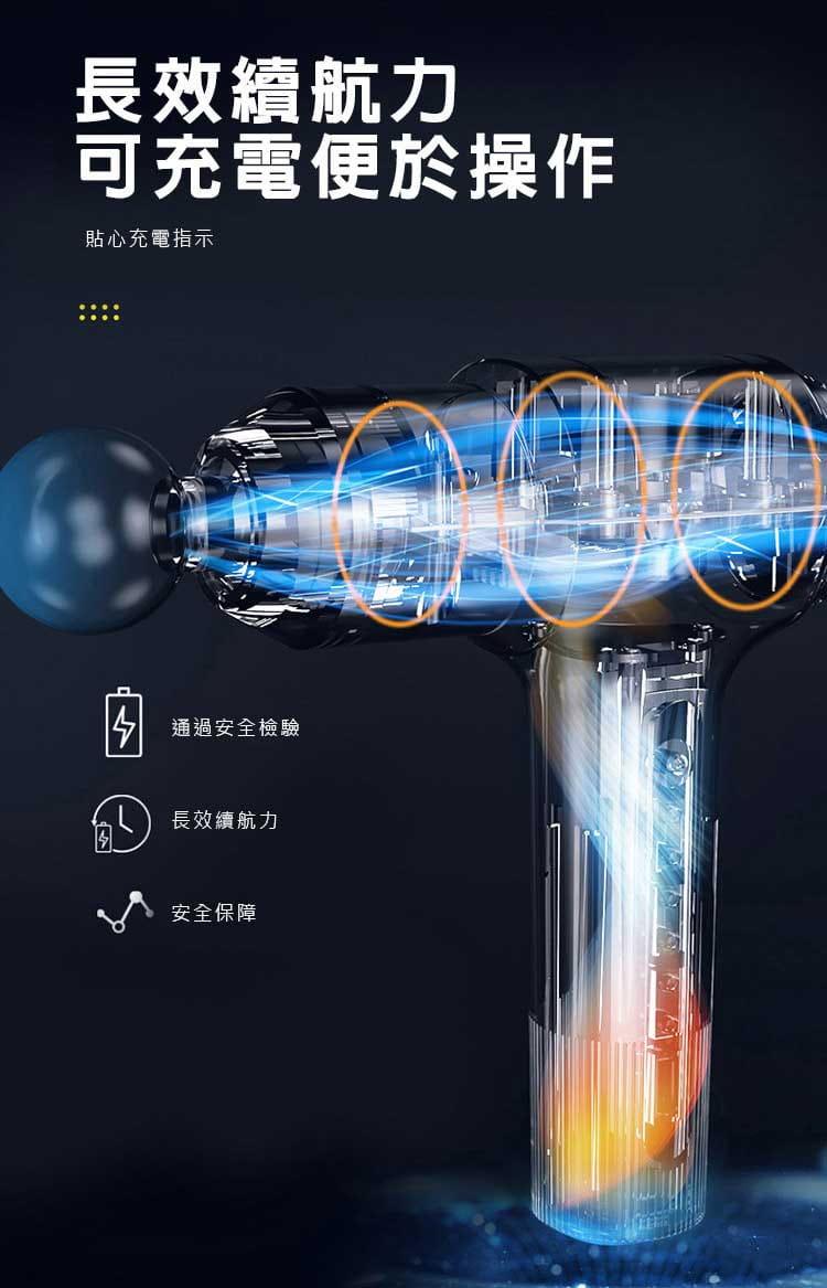 【健身大師】-輕量型USB充電極限筋膜槍(【健身大師】/筋膜槍/按摩槍) 6