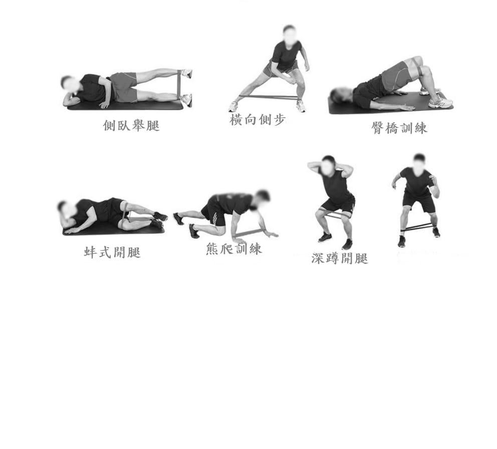 【CAIYI 凱溢】AOLIKES 天然乳膠阻力圈 瑜珈帶 彼拉提斯帶 訓練拉力帶 阻力帶 健身帶 拉力帶 彈力帶 藍色 7