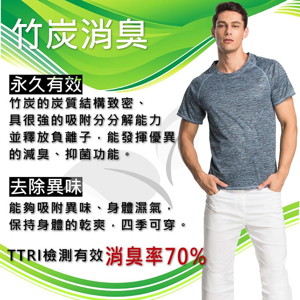 【MI MI LEO】台灣製神奇速乾全功能竹炭髮絲紋機能衣(12色) 4