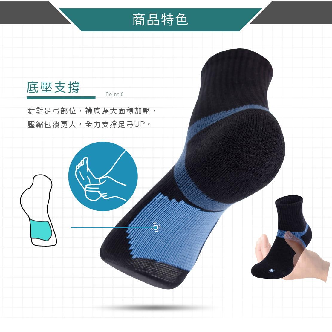 【FAV】足弓機能運動襪 4
