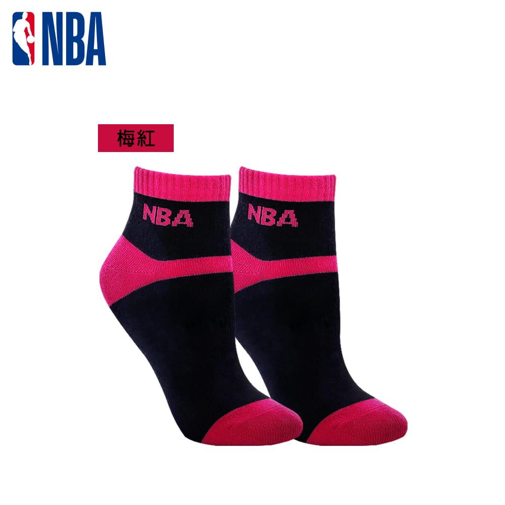 【NBA】 女款百搭平板緹花短襪 2
