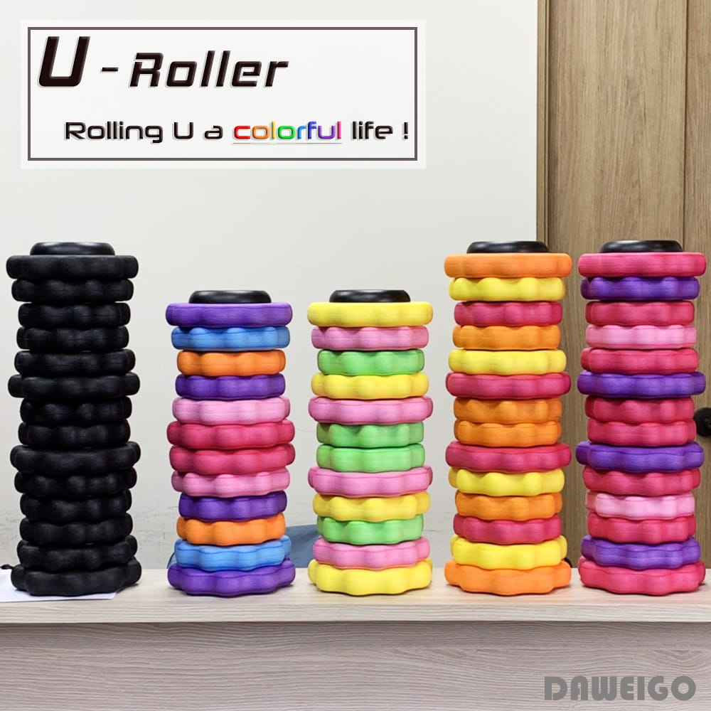U-roller瑜伽滾輪 長版48公分【黑色硬版】 0