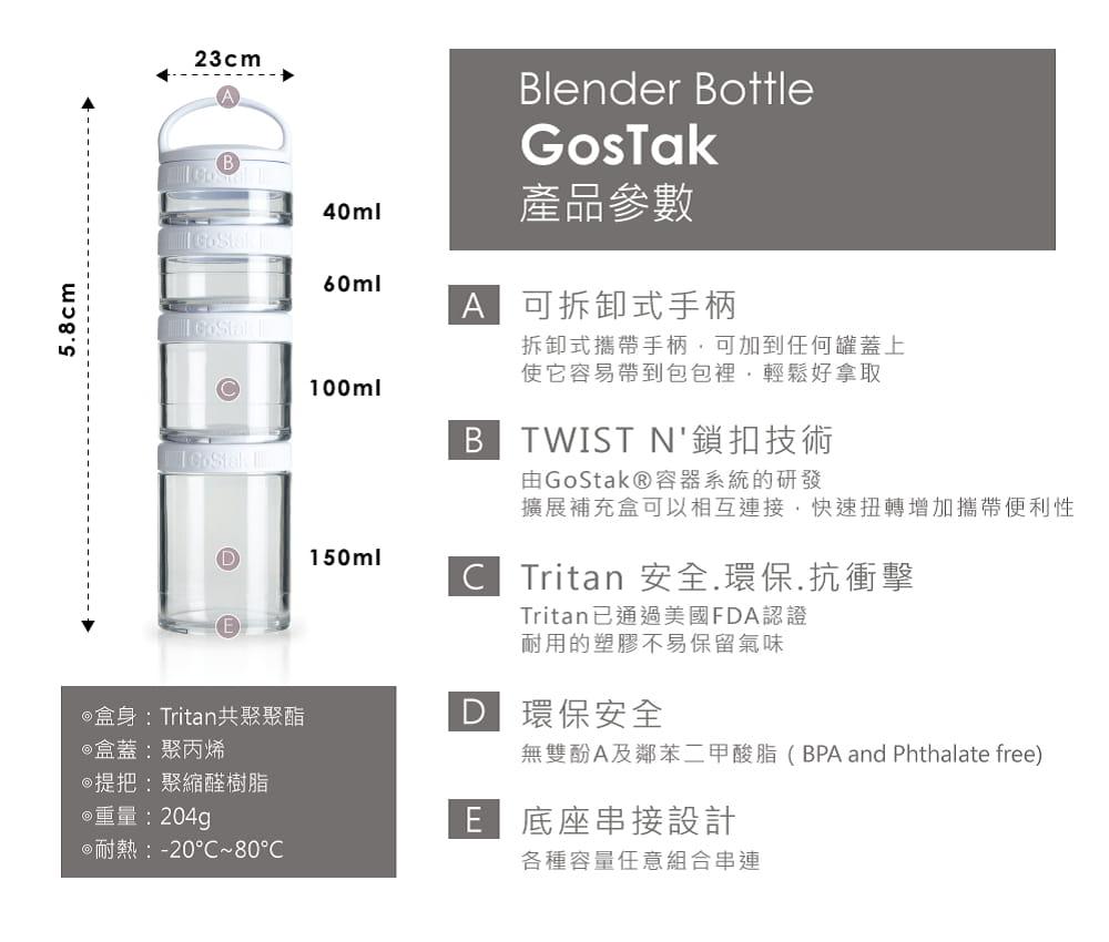 【Blender Bottle】Gostak系列|Tritan|多功能保鮮盒|4層|4色 5
