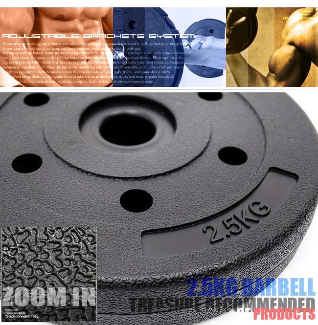 2.5KG水泥槓片(單片) (2.5公斤槓片.啞鈴片.槓鈴片.舉重量訓練) 1