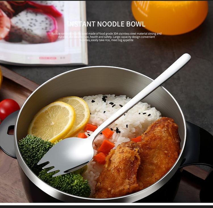 新304不鏽鋼瀝水泡麵碗 17