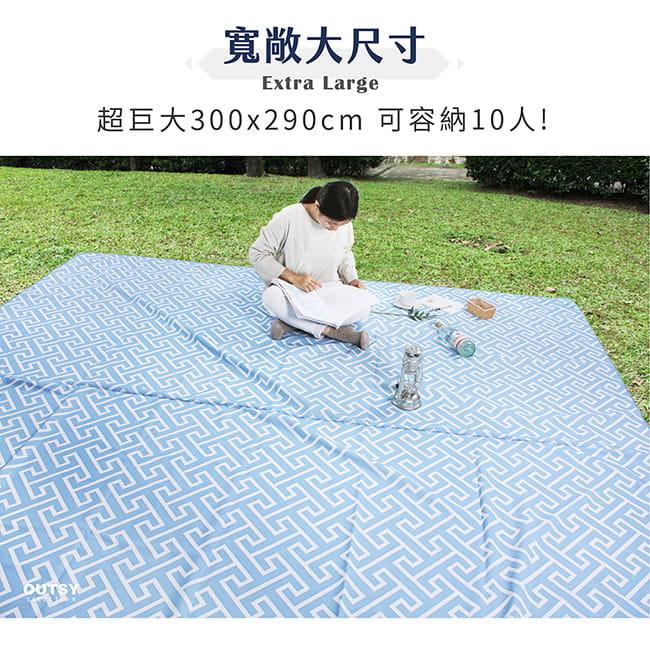 【OUTSY】台灣製300x290巨大獨家花色野餐墊帳篷地墊 9