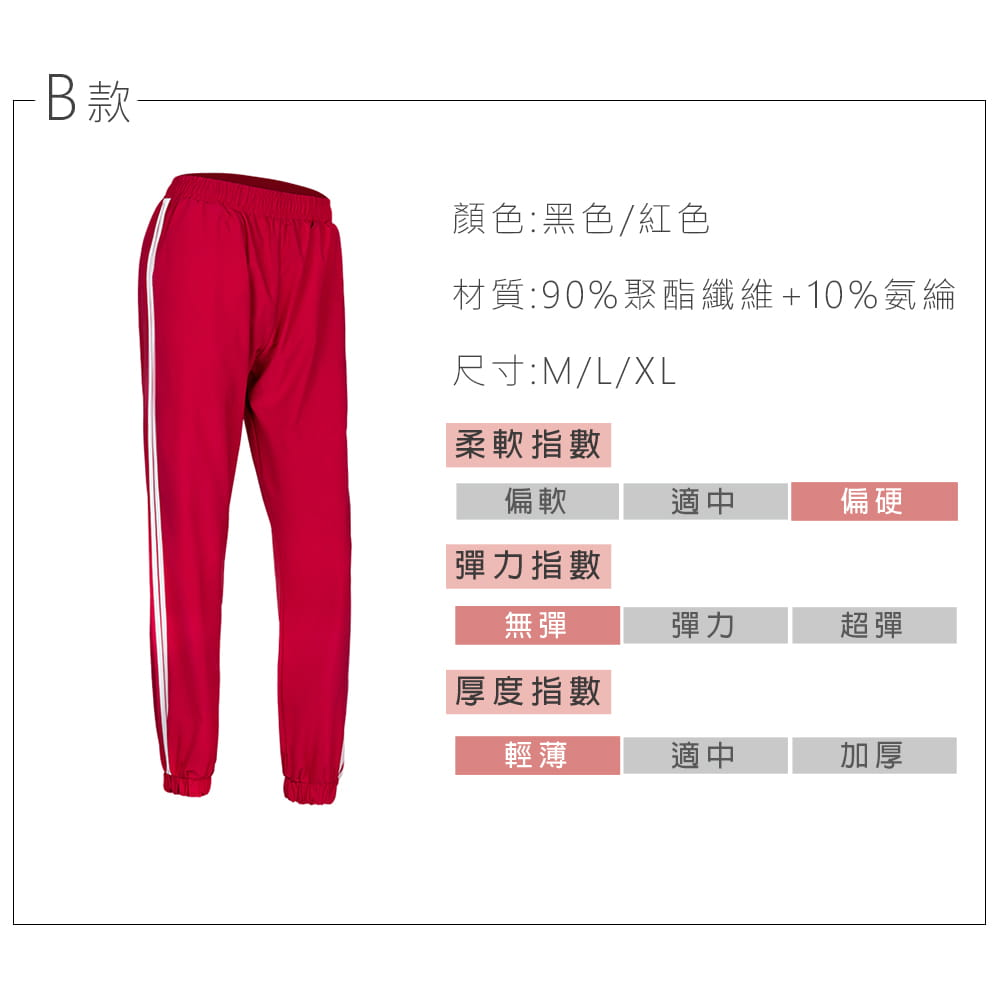 【NEW FORCE】簡約時尚彈力女運動束口長褲-多款多色可選 15